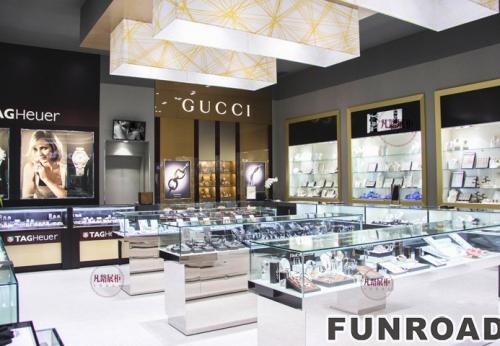 珠宝钟表店高端不锈钢展示柜案例