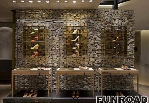 高档鞋店展示柜台案例