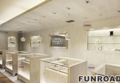 珠宝店木质烤漆展示柜案例