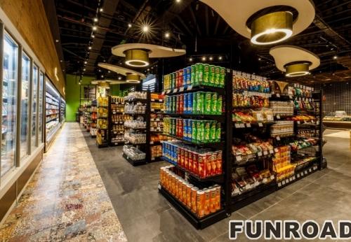 超市不锈钢展示柜案例