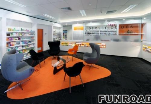 国外新型药店展示柜案例