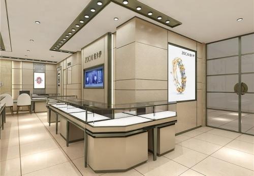 珠宝店的现代零售装饰品
