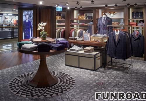 男士西装店展示柜设计案例