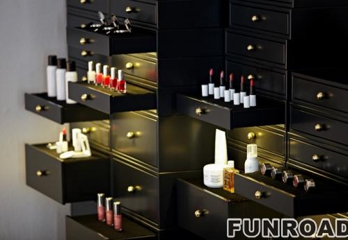 化妆工作室展示柜案例