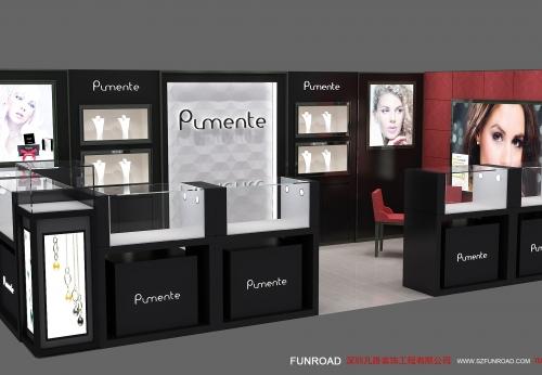 FR-JR-01中国制造厂设计销售的木制珠宝展示亭