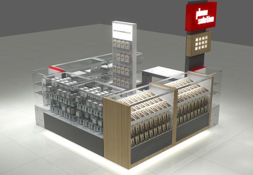 热销木制手机展示架商场手机亭