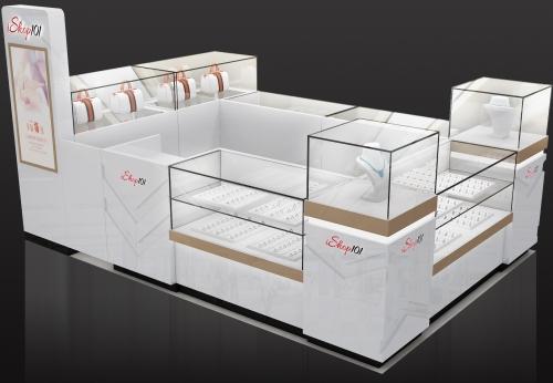 畅销现代设计木质中密度纤维板展台珠宝展台柜销售
