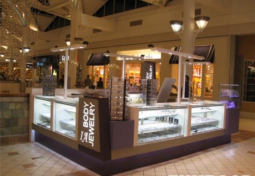 商场珠宝零售亭销售