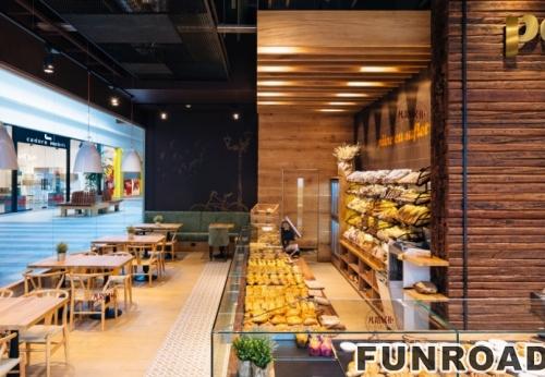 FRSP-0001木质面包店展示柜案例