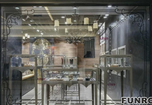 FRJS-0002不锈钢珠宝展柜案例