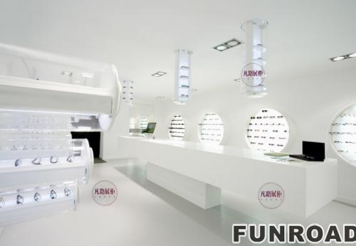 FRYJ-0002科技风格眼镜店展柜案例