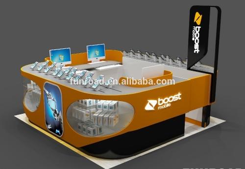 购物中心认证的铁制移动电话亭设计及配件展示