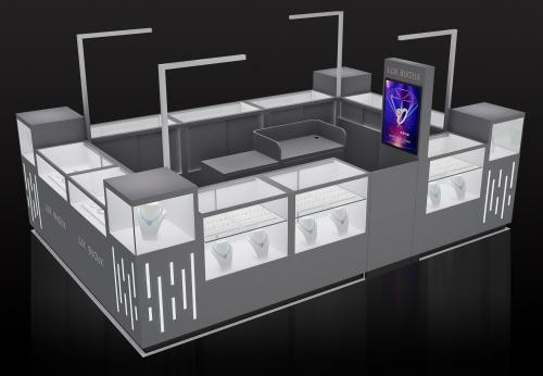 Funroad设计制造美容购物中心零售店珠宝展示亭