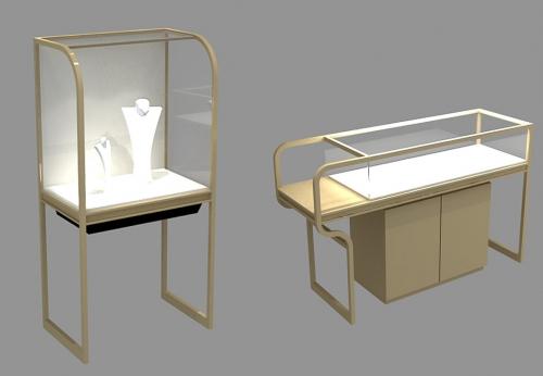 顶级设计高档现代珠宝展示柜店装展示柜