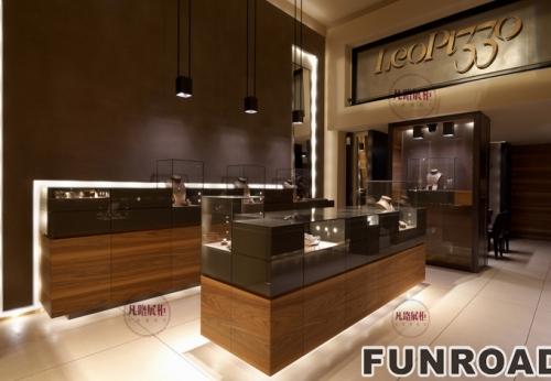 FRJS-914261A级防火材料高档珠宝展示柜案例