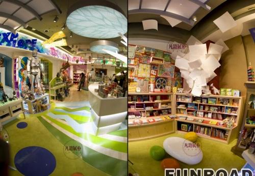 儿童日常用品玩具城展柜案例