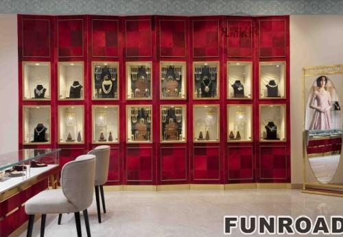 珠宝会所高端不锈钢展示柜案例