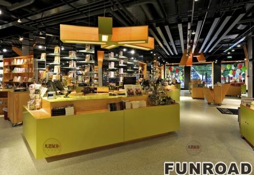 图书馆木质展示柜展示架案例