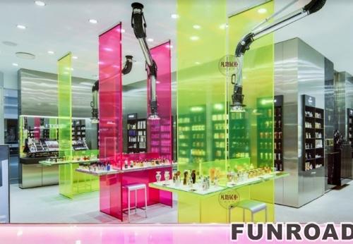 高端化妆品体验店陈列柜案例