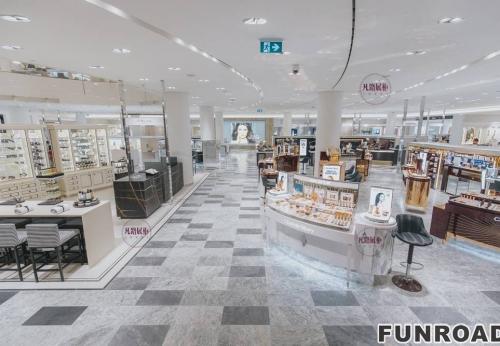 高端商场大理石化妆品展示柜案例