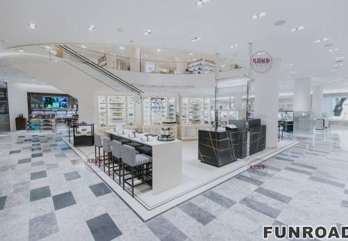 商场大理石化妆品展示柜案例