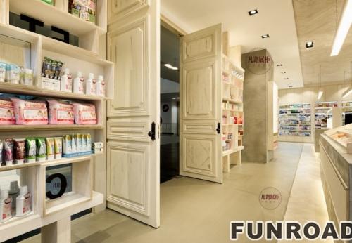 化妆品体验店展示柜制作案例