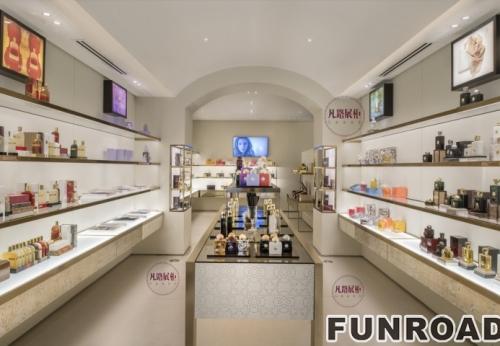 时尚简约香水店展示柜制作案例