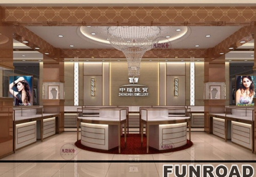 珠宝店展示柜制作设计渲染图