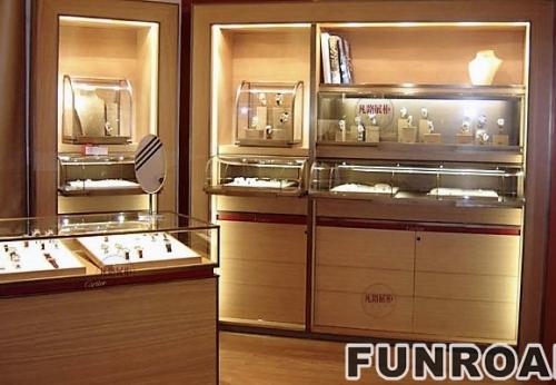 珠宝店整店展示柜制作设计案例