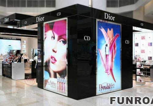 迪奥化妆品店展示柜制作案例