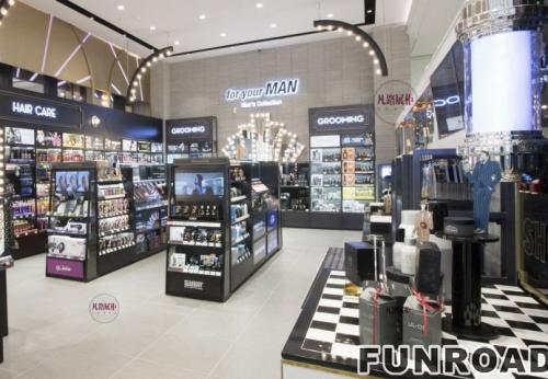 大型化妆品卖场展示柜制作案例