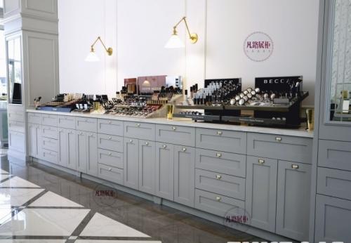 木质烤漆化妆品展示柜制作案例