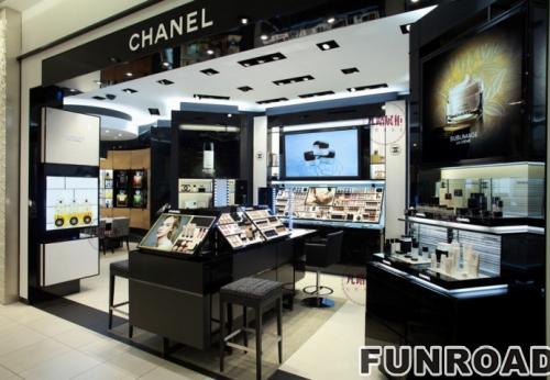 香奈儿化妆品店展示柜制作案例