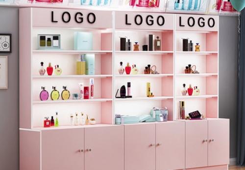韩式美容院化妆品展示柜设计效果图