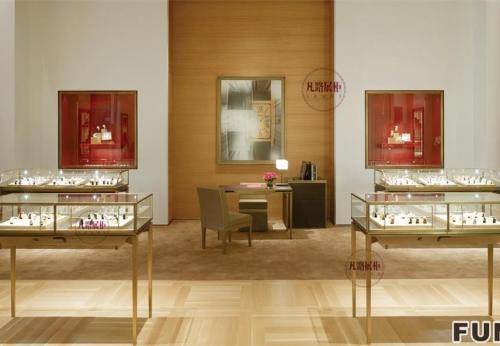 金六福珠宝首饰展柜设计效果图