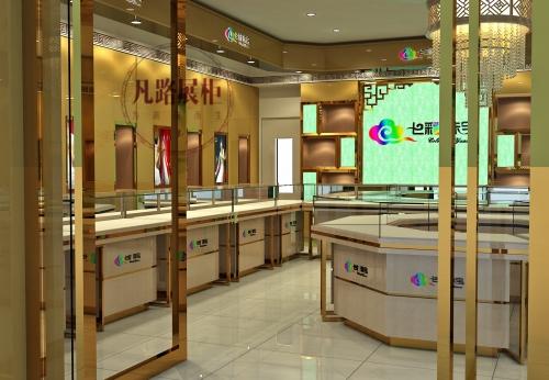 中山七彩珠宝展示柜设计效果图