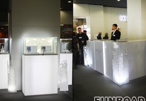 俄罗斯Sokolov珠宝展厅设计效果图