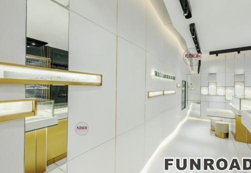 40平方安娜玛利亚珠宝店铺展柜设计效果图