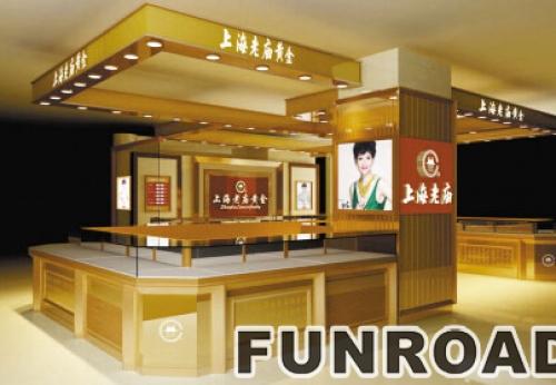 深圳老庙黄金珠宝展厅柜台设计定制案例