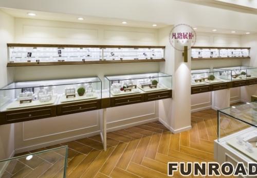 珠宝展柜设计,爱思德珠宝柜台设计效果图