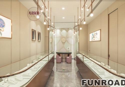 珠宝展柜设计,安娜斯凯柜台效果图