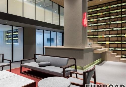 公司企业红酒展厅设计展示柜制作