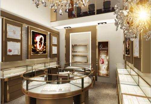 展柜厂家专业定制A级防火材料珠宝展示柜