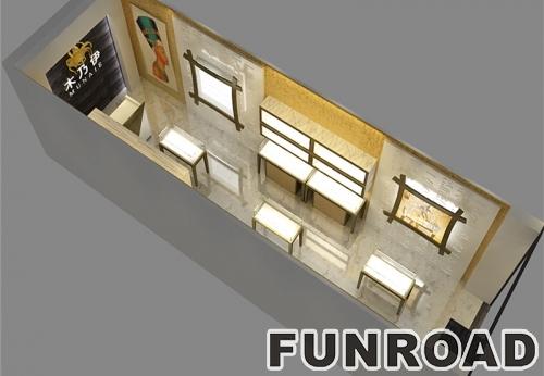珠宝展柜厂设计制作落地式Led展示橱窗