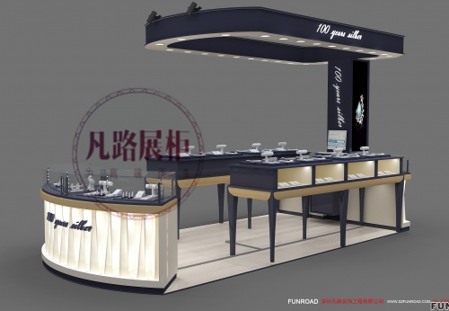 深圳龙华COCO City珠宝首饰展柜设计效果图