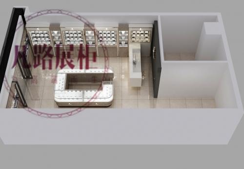 香港马鞍山广场珠宝首饰展柜订制
