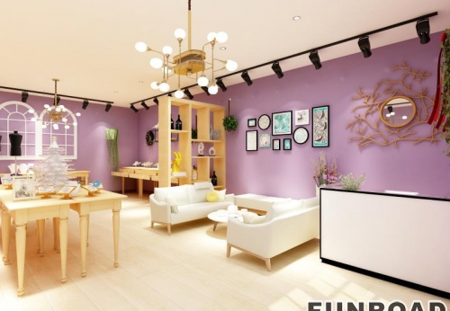 桂林珠宝店实木展示柜设计制作