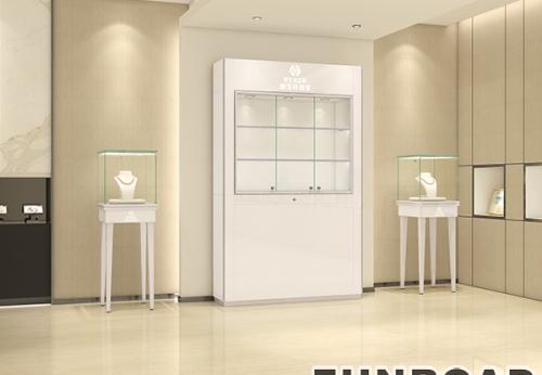 靠墙式高柜 玻璃橱窗展示柜