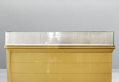玻璃展柜-珠宝平柜效果图