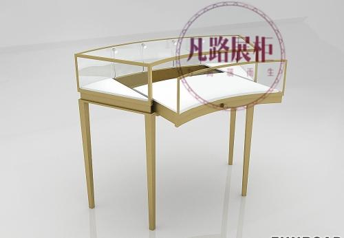 珠宝展示柜定制 弧形玻璃展柜